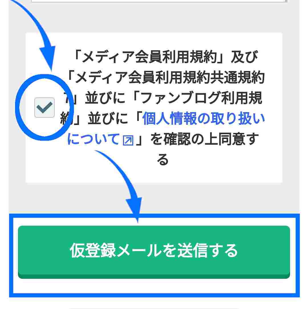A8.netの登録方法04A8.netの規約に同意してアドレスを登録