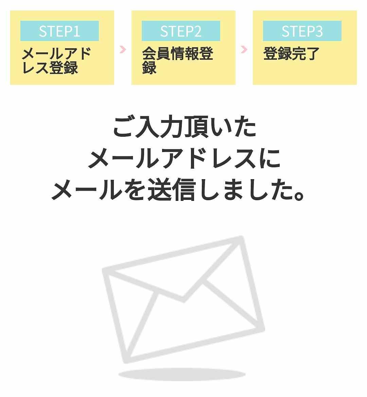 A8.netの登録方法05A8.netの仮登録メール送信完了