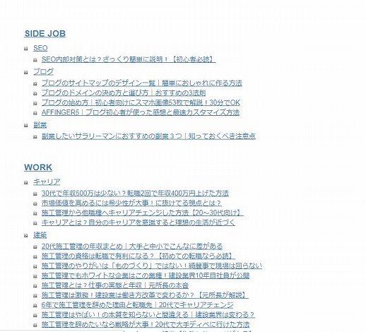 PS Auto Sitemapのスタイルのアーバン