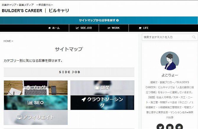 サイトマップのデザイン例ービルキャリ1