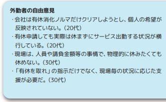 日建協作成‐2019年時短アンケートダイジェスト有給取得抜粋1